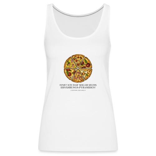 Ernährungspyramide aus Pizza - Frauen Premium Tank Top