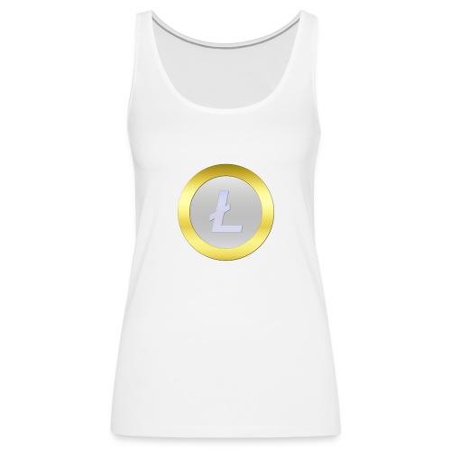 Litecoin Logo 3D Silver C - Frauen Premium Tank Top