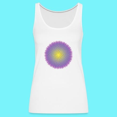 Fibonacci based image with radiating elements - Women's Premium Tank Top