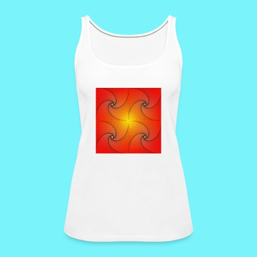 Pursuit curve in red and yellow - Women's Premium Tank Top