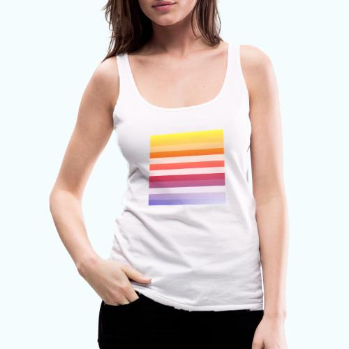 Rainbow Abstract Acrylic Painting - Women's Premium Tank Top