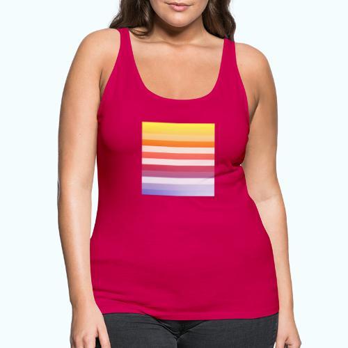 Rainbow Abstract Acrylic Painting - Women's Premium Tank Top
