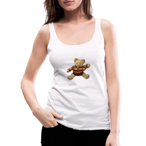 Teddybär - orange braun - Retro Vintage - Bär - Frauen Premium Tank Top