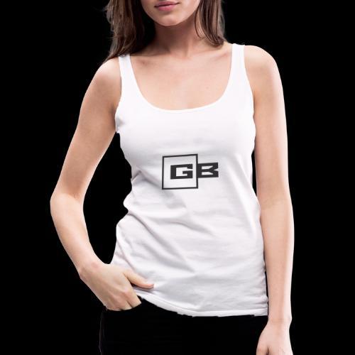 Musta Gymbox logo - Naisten premium hihaton toppi