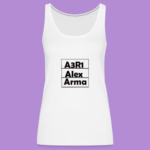 Alex - Camiseta de tirantes premium mujer