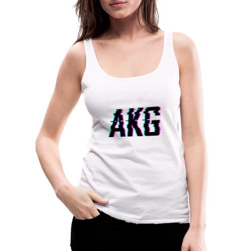 AKG Schwarz Glitched - Frauen Premium Tank Top