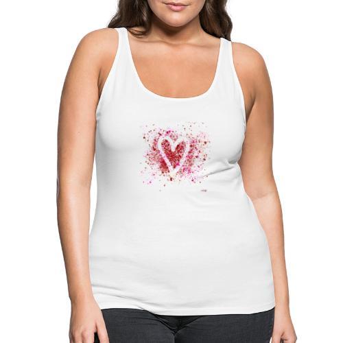 Hearts of splash - Vrouwen Premium tank top