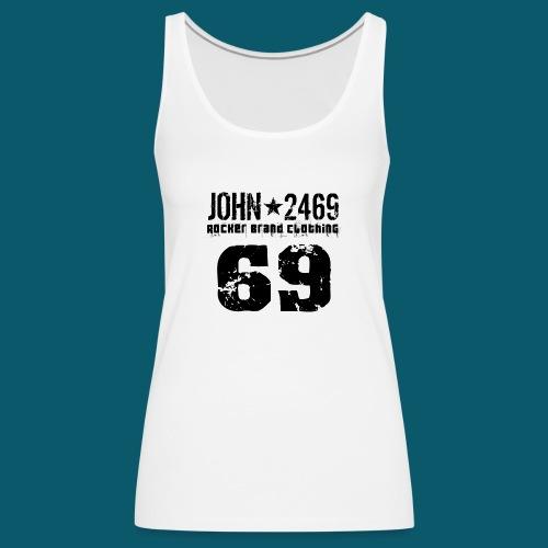 john 2469 numero trasp per spread nero PNG - Canotta premium da donna