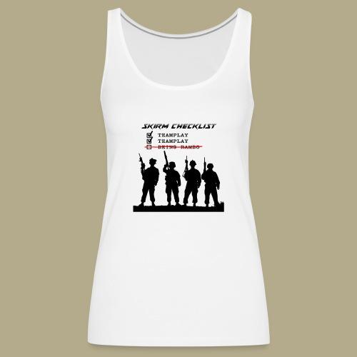 Skirm Checklist - Vrouwen Premium tank top