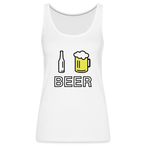 I Love Beer (2-farbig) - Frauen Premium Tank Top