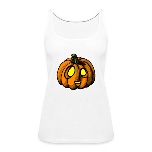 Pumpkin Halloween scribblesirii - Frauen Premium Tank Top