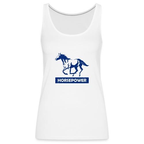 Galoppierendes Pferd Horsepower (Blau) - Frauen Premium Tank Top