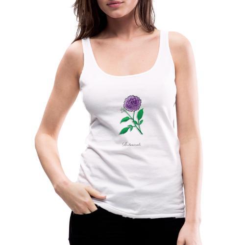 Disegno fiore di dalia - Canotta premium da donna