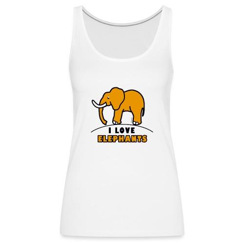 Elefant - I LOVE ELEPHANTS - Frauen Premium Tank Top