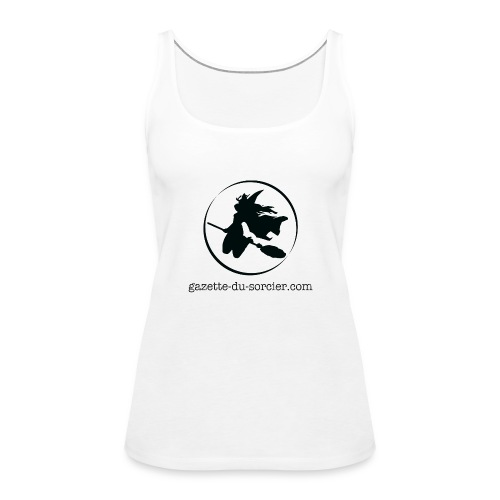 T-shirt logo Gazette - Débardeur Premium Femme