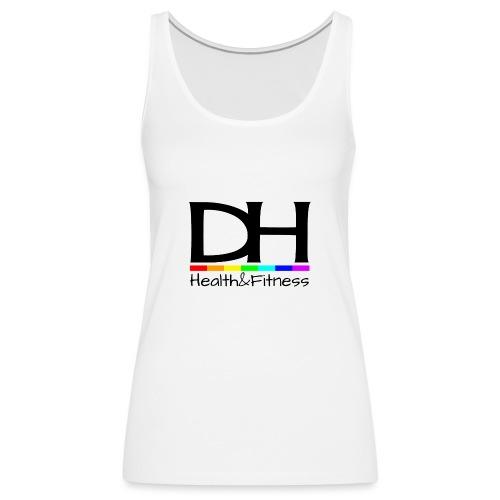 DH Health&Fitness Large logo - Women's Premium Tank Top