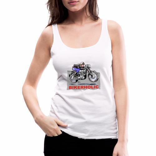 bikerholic - Women's Premium Tank Top
