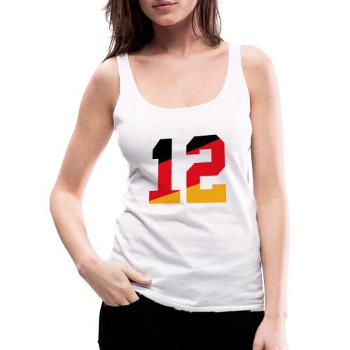 Fussball Nummern_12 - Frauen Premium Tank Top