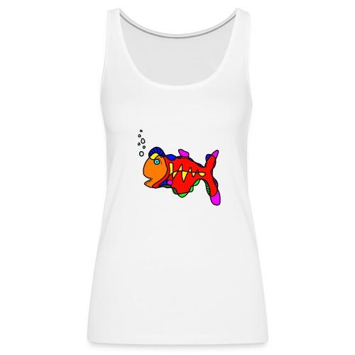 Tusche Fisch --- one line - Frauen Premium Tank Top