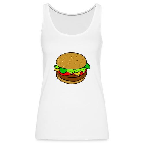 Hamburger motiv - Premiumtanktopp dam