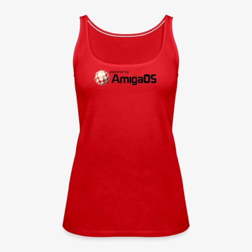 PoweredByAmigaOS Black - Women's Premium Tank Top