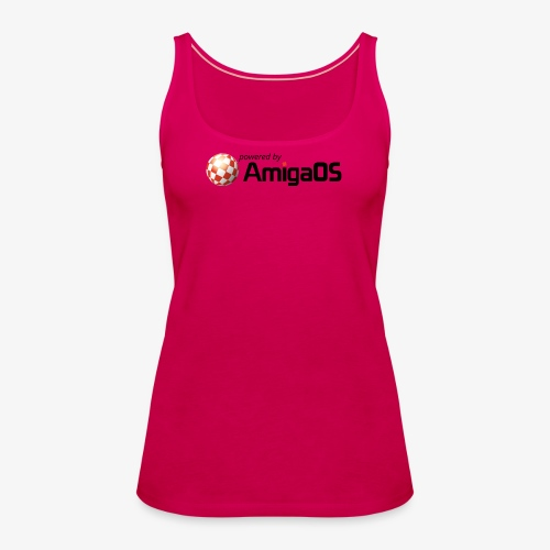 PoweredByAmigaOS Black - Women's Premium Tank Top