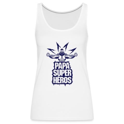 papa super heros eclair muscle bodybuild - Débardeur Premium Femme