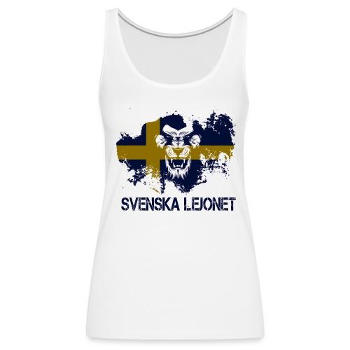 Svenska Lejonet Official Chest Logo - Premiumtanktopp dam