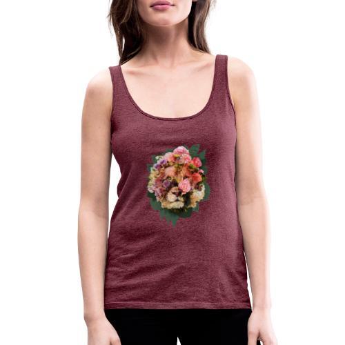 Ritratto leone fiori in doppia esposizione - Canotta premium da donna