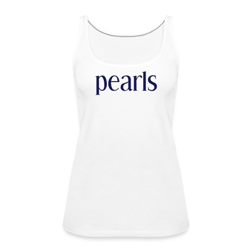 pearls blå - Premiumtanktopp dam