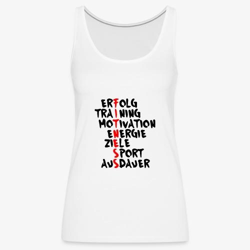 Fitness- Erfolg Training Motivation - Frauen Premium Tank Top