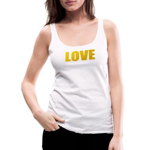 LOVE YELOW - Camiseta de tirantes premium mujer