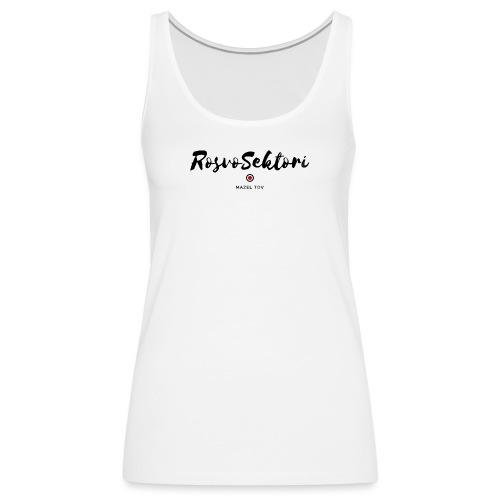 RosvoSektori logo - Naisten premium hihaton toppi