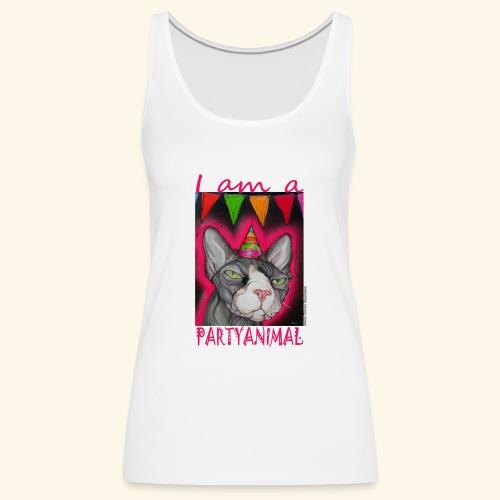 I am a PartyCat - Vrouwen Premium tank top