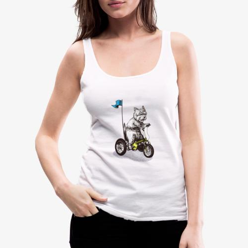 West Highland Terrier Tricycle - Women's Premium Tank Top