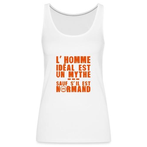 normand homme ideal mythe humour citatio - Débardeur Premium Femme