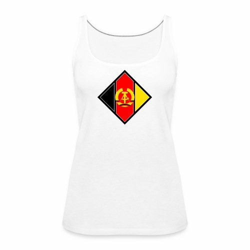 DDR coat of arms stylized - Women's Premium Tank Top