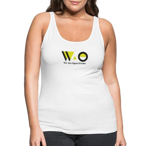 WAO y Letras color - Camiseta de tirantes premium mujer