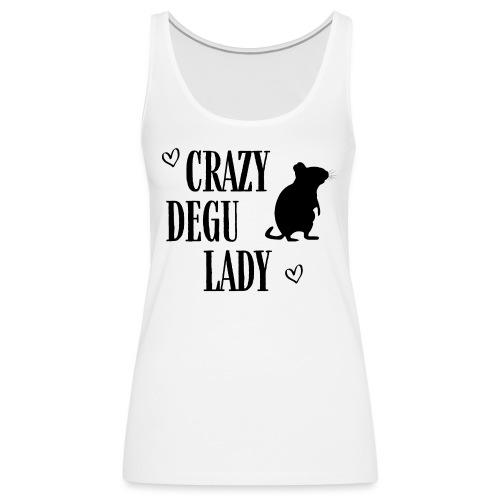 Crazy Degu Lady Geschenk für Deguhalterinnen - Frauen Premium Tank Top
