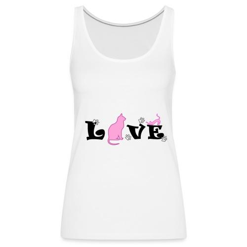 amor gatuno - Camiseta de tirantes premium mujer