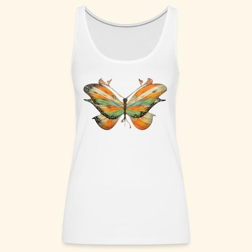 grande farfalla colorata - Canotta premium da donna