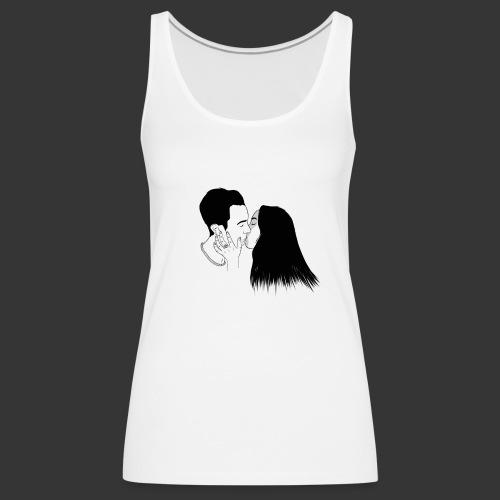 Outline Tumblr Kiss - Canotta premium da donna