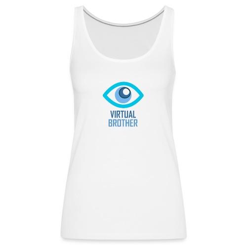 LOGOVIRTUALBROTHER - Camiseta de tirantes premium mujer