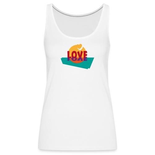 Love Liebe Herzen Valentinstag Glück Sommer Sonne - Women's Premium Tank Top