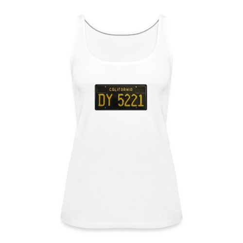 CALIFORNIA BLACK LICENCE PLATE - Women's Premium Tank Top