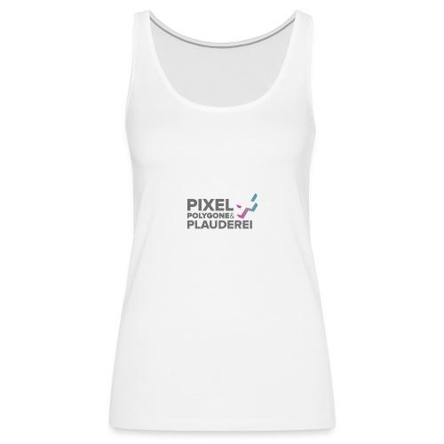 Pixel Polygone Plauderei Logo Grau - Frauen Premium Tank Top