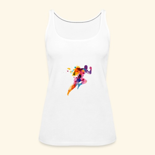 Running colores - Camiseta de tirantes premium mujer