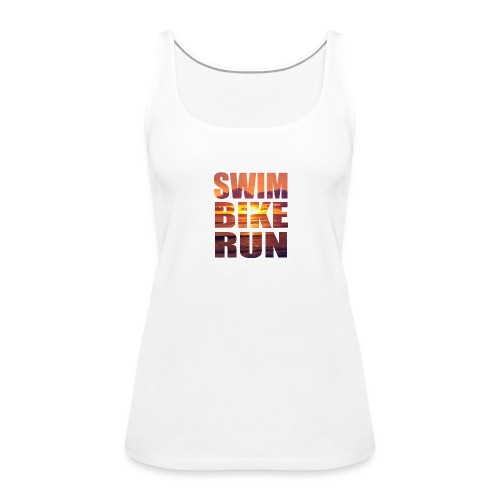 swim bike run @RUNNINGFORCE - Frauen Premium Tank Top