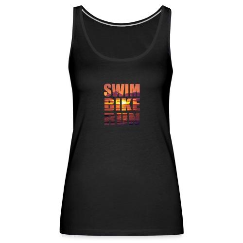swim bike run @RUNNINGFORCE - Frauen Premium Tank Top
