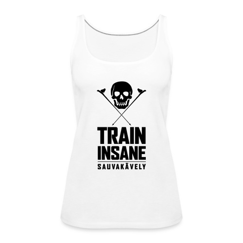 Sauvakävely - Skull t-shirt - Naisten premium hihaton toppi